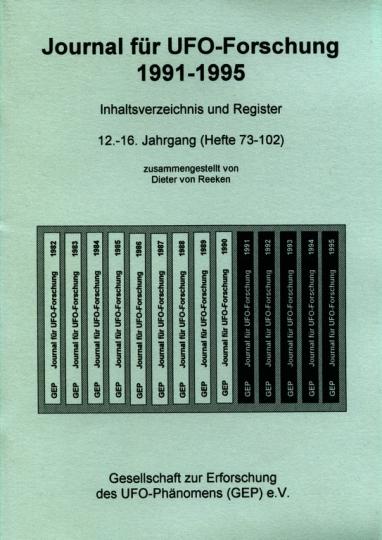 Inhaltsverzeichnis Journal für UFO-Forschung