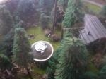 Modell: Die nachgestellte Landung einer Fliegenden Untertasse